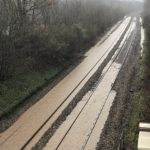 Bridgend to Cardiff  railway closed due to flooding